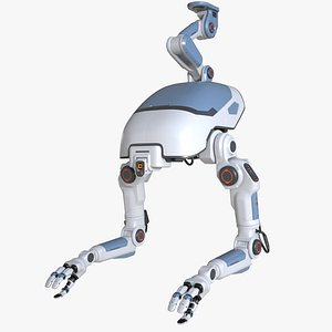 industrial sci-fi robot 3D model