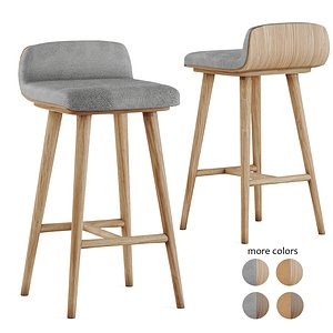 stool leather fabric 3D model