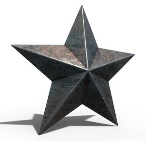 3D model old metal star
