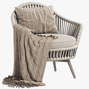 3D model Daisy Swivel Club Chair