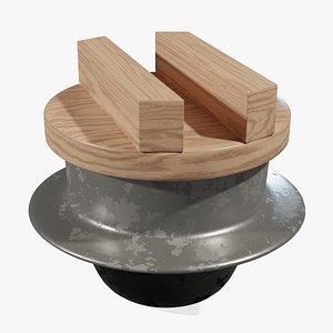 3D Rice Cooker Kamado model