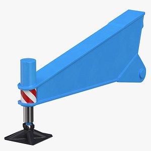 crane outrigger 02 blue 3D