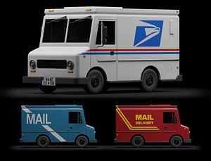 Mail Truck 3D model