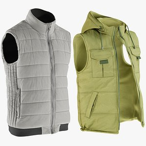 3D realistic vests 3 collections model