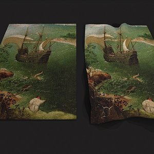 Landscape with the Fall of Icarus Bruegel Tapestry 3D