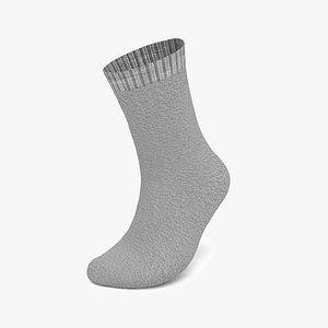 3D Realistic Worn Socks Male Body Shape Model 3D