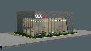 audi car showroom-gallery 3D model