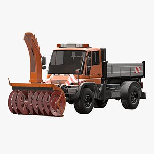 snowplow truck mercedes unimog model
