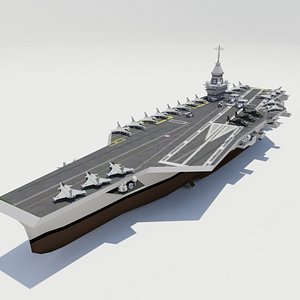 french  PANG aircraft carrier 3D