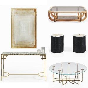 Set of tables 3D