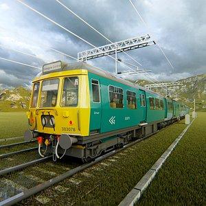 3D British Rail Class 303 Electric