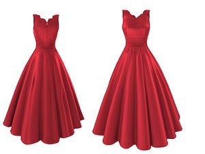 3D Scarlet Overkill Red Dress model