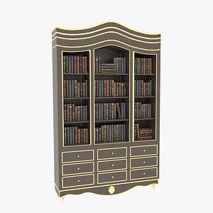 3D Bookcase Large Brawn model