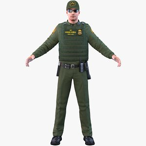 border officer 3D model
