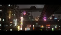 Cyberpunk Town Scene