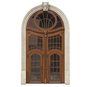 Entrance classic door 48 3D