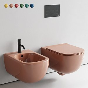 Ceramica Cielo Era Wall-Hung WC Set 2(1) 3D
