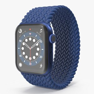 Apple Watch Series 6 Blue Braided Band model