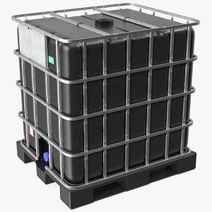 IBC Container 1000 Litres UV Resistant 3D model