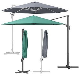 octagonal cantilever parasol model