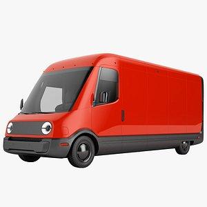 Generic Electric Delivery Van 04 3D