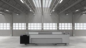 Large platform laser feeding machine 3D