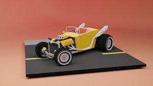 Hot Rod 2 versions Low-poly 3D model