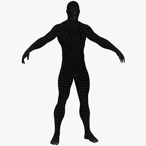 3D biped male base mesh