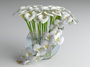 Flowers composition 03 model