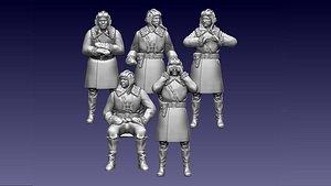 3D ussr tank crew ww2
