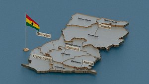 3D ghana provinces state