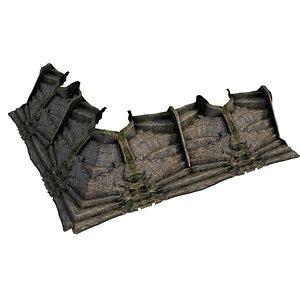 Pyramid Temple Wall 04 02 3D