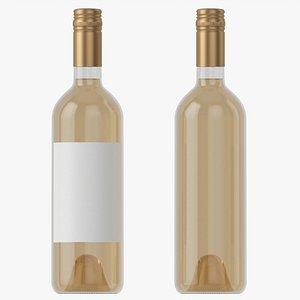 Wine bottle mockup 04 screw cap 3D model
