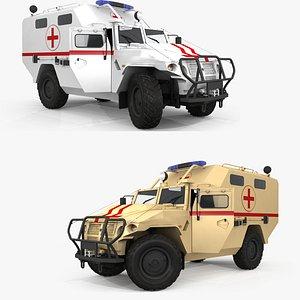 3D GAZ Tigr Ambulance