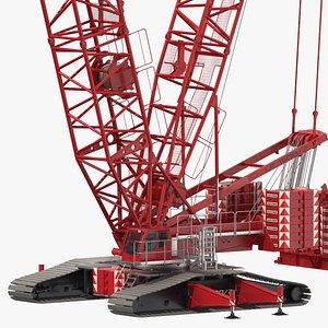 3D liebherr lr 1600-2 crawler crane