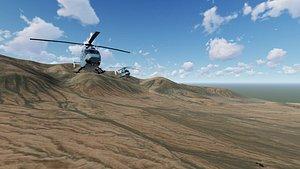 mountain valley caleta lobos 3D model