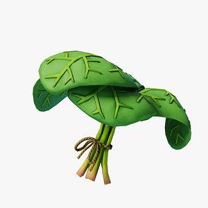 3D model Cartoon Spinach