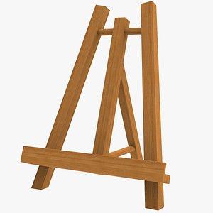 3D Wooden Easel model