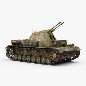 ww2 german flakpanzer iv model