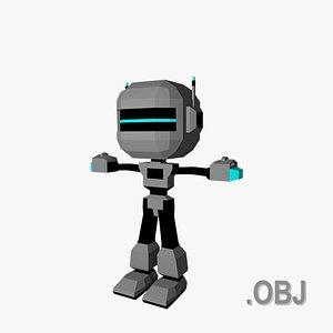 Robot - OBJ - Low Poly Quad 3D