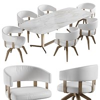 Natuzzi valle chair campus table