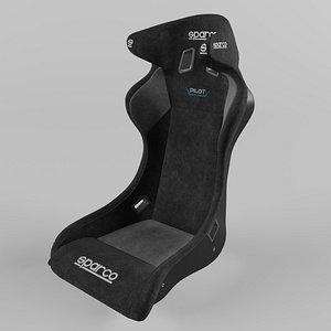 3D Sparco PILOT QTR Sports Racing Seat Suede