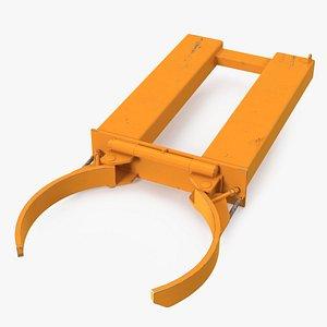 3D Single Drum Grab Lifter Forklift Attachment