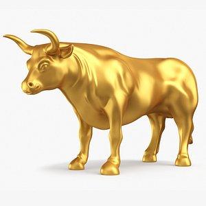 3D bull statue