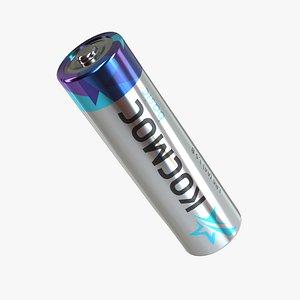 Battery Kosmos AA LR6 3D model