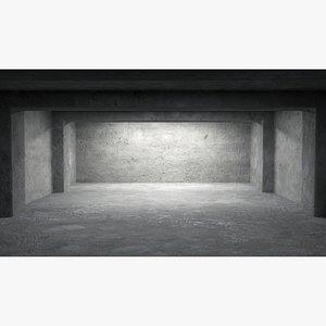 3D Empty room interior 06 model