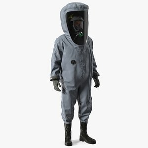 3D model Fully Encapsulating Chemical Protection Suit Rigged