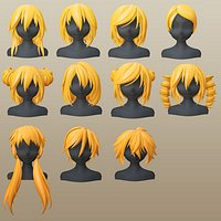 Character - 11 Anime Girl Short Hairs