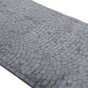 Cobblestone Rock Road Scan model