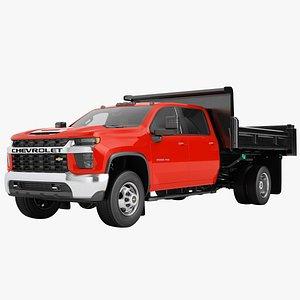 3D Chevrolet Silverado 3500 HD 2021 Flatbed Dump Truck 02